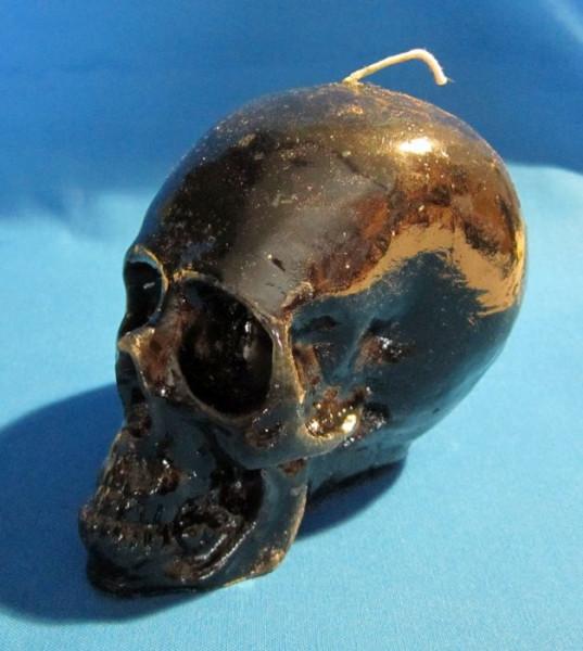 Figurenkerzen für magische Zwecke - Totenkopf Kerze - Reversible