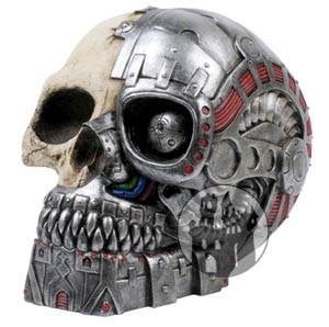 Cyborg Schädel - Spardose