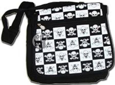 Tasche 'Black N White Skull II'