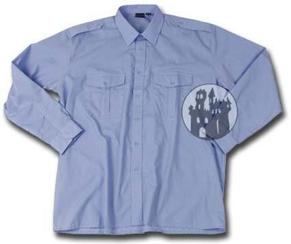 Piloten-Diensthemd - Blau - langarm