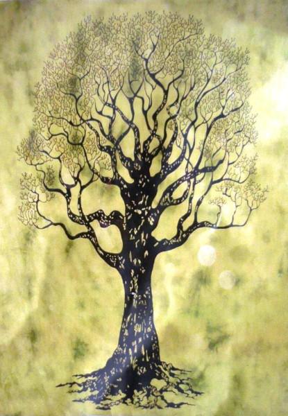 Tuch Baum Batik
