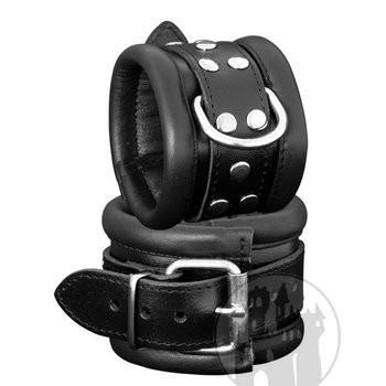 Handfessel schwarz mit geschweißtem D-Ring