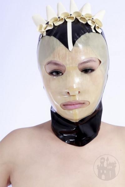 Dienstmädchen Latex Maske