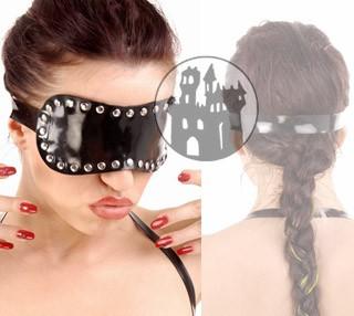 Latex Augenbinde - Ziernieten