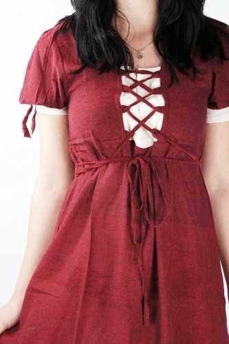 Baumwoll Sommerkleid rot