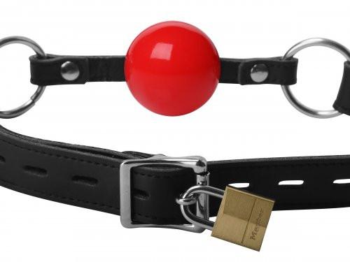 Verschließbarer Ball Knebel - Rot