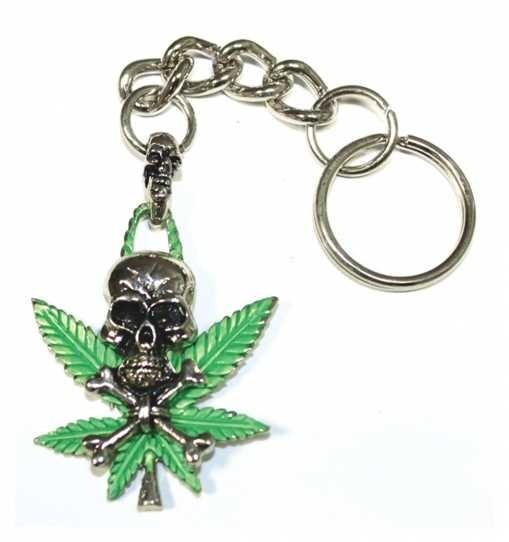 Schlüsselanhänger - Totenkopf Hanf
