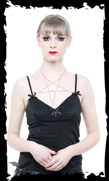 Dekolleté Kette Pentagramm