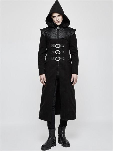 Mantel mit Kapuze und Reißverschluss