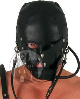 Leder Maske mit Knebel