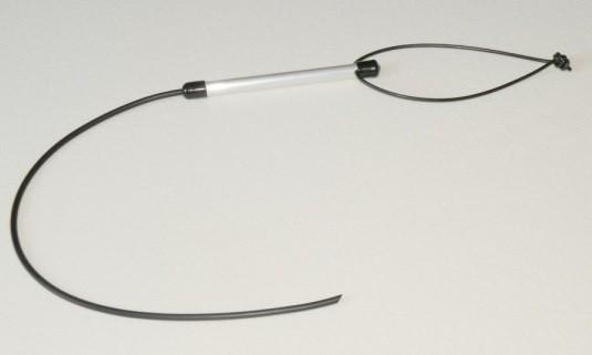Gummipeitsche mit Aluminiumgriff - 65cm