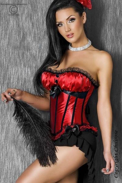 Corsage in schwarz/rot