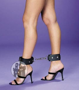 Latex Fußfesseln - einfach