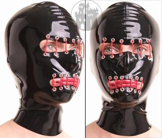 Latex Maske - mit Ziernähten