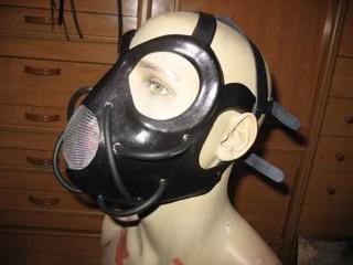 Leder Maske 'Cyber Slave'