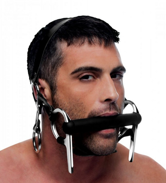 Silikon Beißstange mit Kopfharness