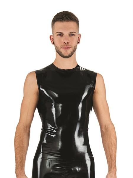 Latex Shirt ärmellos schwarz