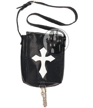 Kunstledertasche mit weißem Kreuz