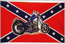 Flagge 'Südstaaten mit Bike'
