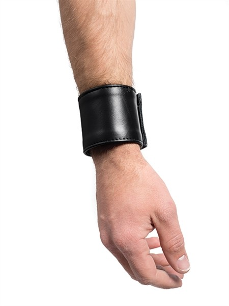 Leder Handgelenk-Geldbörse schwarz klein