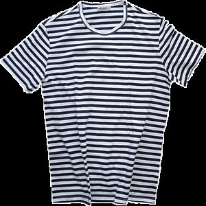 Kurzärmliges Marine T-Shirt