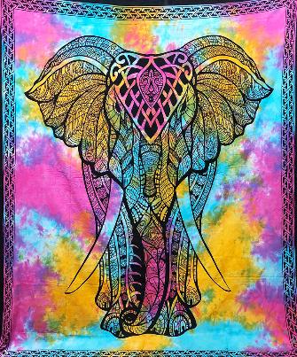 Tuch mit Elefant