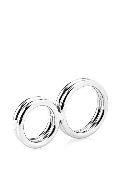 Cock-Ring aus zwei Ringen - Penisbieger