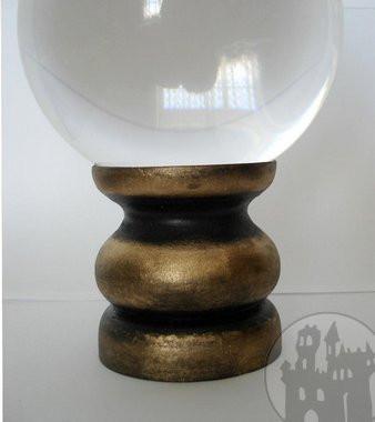 Kristallkugelhalter gold/schwarz groß